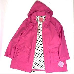 New! KATE SPADE Rain Coat with detachable hoodie